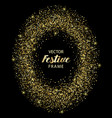 luxury and golden glitter oval festive frame vector image vector image