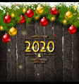 merry christmas and happy new year sale banner vector image vector image
