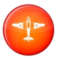 Military fighter plane icon flat style vector image vector image