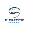 military jet aircraft logo vector image vector image