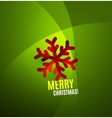 Modern Abstract Christmas Card vector image
