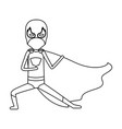 monochrome silhouette faceless of kid superhero in vector image