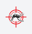 mosquito icon red target insect pest control sign vector image vector image