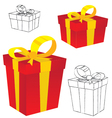 Multicolored gift box Gift box isolated on white vector image vector image