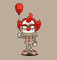 nice clown vector image vector image