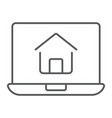 online house shopping thin line icon real estate vector image