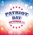 Patriot Day USA banner vector image
