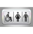 Restroom symbol button vector image vector image