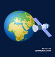 satellite communication isometric vector image vector image