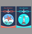 sea adventure and star two vector image