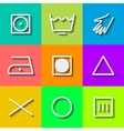 Set of Flat Wash Icons vector image