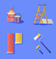 set painting and wall upkeep tools vector image