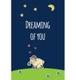 sheep greeting card vector image vector image