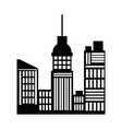 silhouette buildings skyline skyscrapers vector image vector image