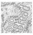 SM Money savings on food Word Cloud Concept vector image vector image