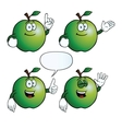 Smiling apple set vector image vector image