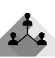 social media marketing sign black icon vector image vector image