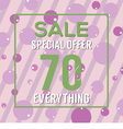 Special Offer 70 Percent On Colorful Green Bubbles vector image vector image