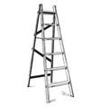 step ladder vintage vector image vector image