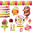 Stylized ice cream icons vector | Price: 5 Credits (USD $5)