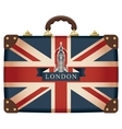 suitcase with Big Ben vector image