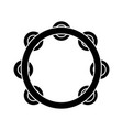 tambourine icon black sign vector image vector image