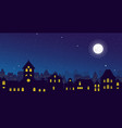 the night town skyline with vector image vector image