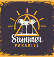 travel banner with palm trees summer paradise vector image vector image
