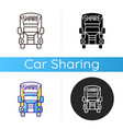 truck sharing icon vector image