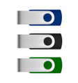 usb flash drive in usb drive in vector image vector image