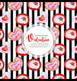 valentine black stripe pattern background vector image vector image