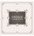 Vintage ornament frame Retro wedding invitations vector image vector image