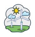 windpower industries to healp the environment vector image