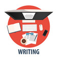 writing flat design writing vector image