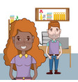 young people couple vector image