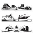 Global transportation set vector image