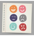 Scribble faces vector image
