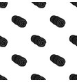 mattress touristtent single icon in black style vector image