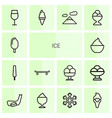 14 ice icons vector image vector image