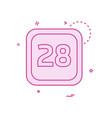 28 date calender icon design vector image