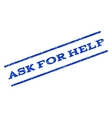 Ask For Help Watermark Stamp vector image vector image