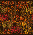 autumn seamless pattern with stylized trees vector image