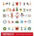 Big set of Christmas icons in flat style vector image vector image