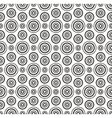 Black dots circles pattern on white background vector image vector image