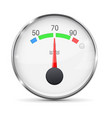 car engine temperature gauge normal with metal vector image vector image