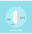 Clean Code vector image