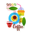 coffee cup break breakfast drink beverage vector image vector image