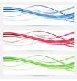 Colorful bright web headers lines collection vector image vector image