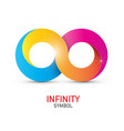 Colorful infinity symbol endless icon isolated on