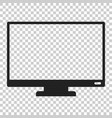 computer monitor icon in flat style television on vector image vector image